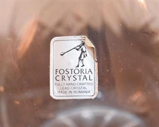 Pair of Fostoria Decanters