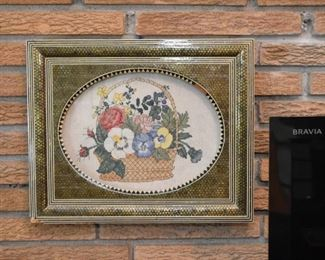 Framed Needlepoint / Embroidery