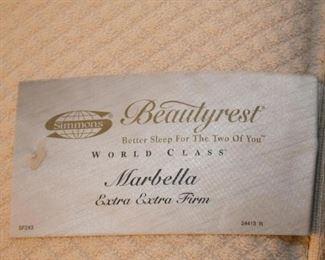 Queen Size Beautyrest Mattress & Box Spring, Throw Pillows