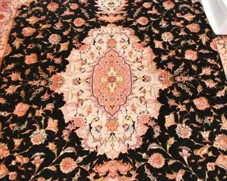 "Persian Tabriz Carpet / Rug (approx. 10' x 6'7"")"