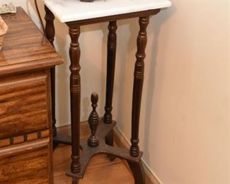 Plant Stand / Pedestal with Marble Top