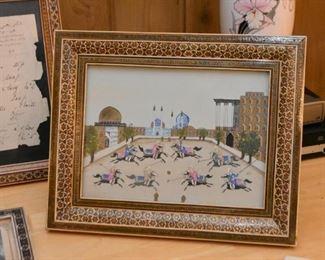 Framed Persian Artwork