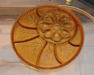 Vintage Glass Appetizer / Serving Platter