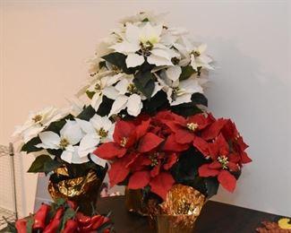 Artificial Poinsettias - Christmas Decor