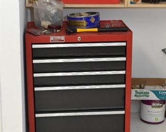Red Metal Tool Chest, Tools & Hardware