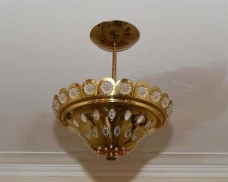 Vintage Brass Light Fixture / Pendant
