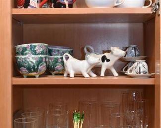 Coffee Mugs, Bowls, Cow Creamers, Teacups, Glassware