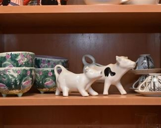 Bowls, Cow Creamers, Teacups