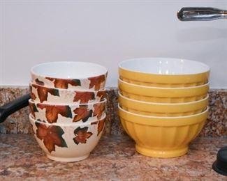 Bowls - Soup, Cereal, Cafe Au Lait