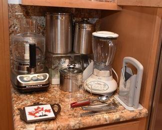 KitchenAid Food Processor, Blender, Stainless Kitchen Canisters, Bagel Slicer, Kitchen Utensils