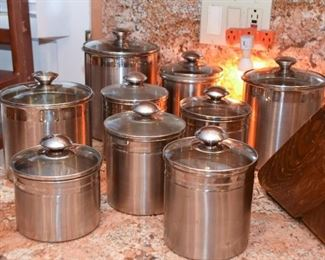 Stainless Kitchen Canisters