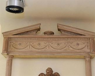 Architectural Element - Pediment, Columns & Base (there are 2 of these, each approx. 9' high x 5' wide)