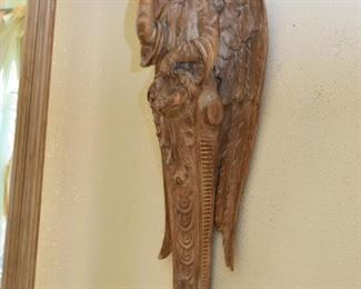 """Architectural Salvage - Wood Carved Angel (there are 2 of these (each approx. 41"""" high)"""