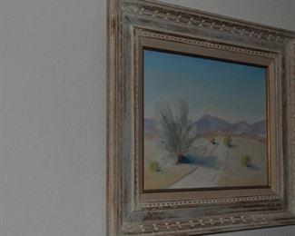 Signed desert painting