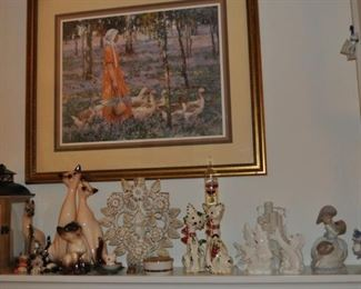 Great cat figurines!  Look at the pair of tall Siamese kitties...