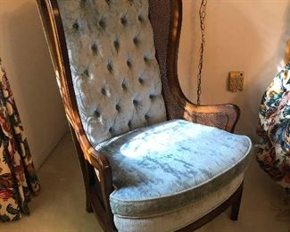 crush velvet armchair from Liberace's estate (probably)