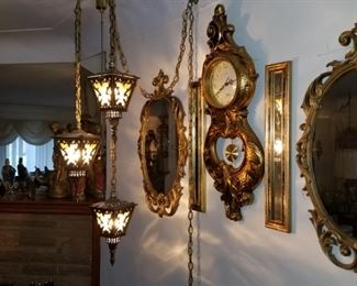 3 lamp swag lamp