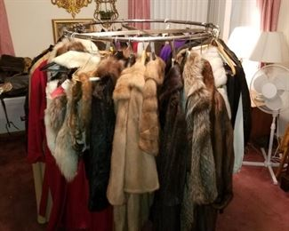 Fur coats, leather coats and outerwear
