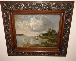 Fritz Halberg-Krauss (German, 1874-1951) Seaside Painting