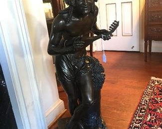 "Approx. 37"" bronze Bacchus"