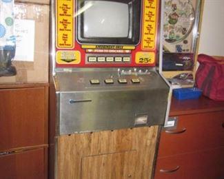 Vintage Draw 90 Poker Machine & Nishigin Pachinko Machine