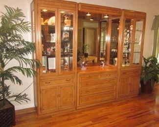 Thomasville Wall Unit Display Cabinets