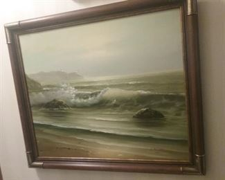 Signed J. NELSON PAINTING, OIL ON CANVAS