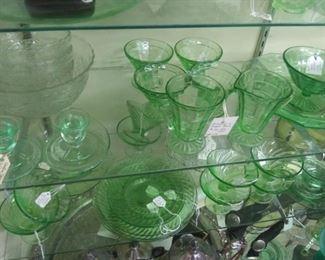 Vaseline Glass, Uranium Glass, Depression Glass