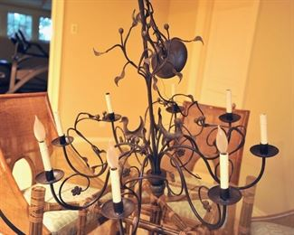 "Ironware ""Lucia"" 8-arm chandelier"