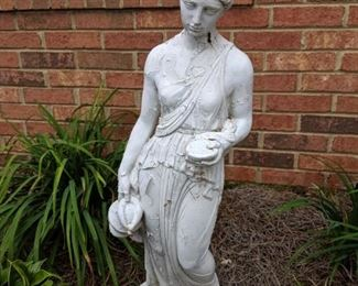 Yard cement pots and statues