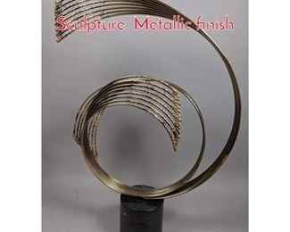 Lot 5 C JERE Modernist Metal Wave Sculpture. Metallic finish
