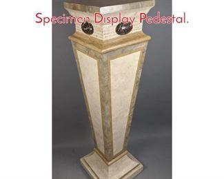 Lot 8 Decorator Travertine Marble Specimen Display Pedestal.