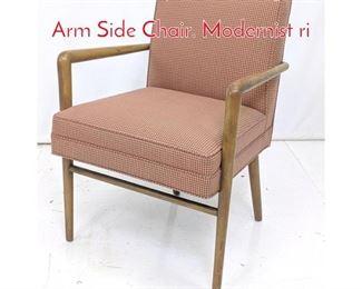 Lot 12 TH Robsjohn Gibbings Style Arm Side Chair. Modernist ri