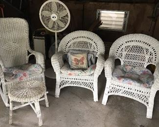 OLD REAL wicker set.  Never been outside