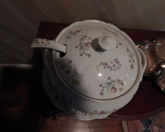 Lovely covered tureen with under plate.