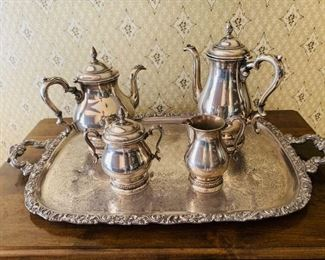 Sterling silver tea set, Prelude by International