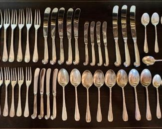 Williamsburg Queen Anne sterling silver flatware by Stieff