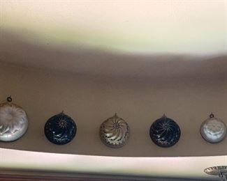 Miscellaneous stoneware pudding molds