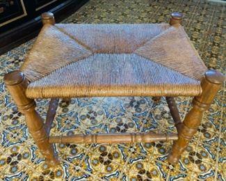 Rush seat stool/seat