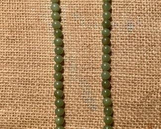 Jade  beaded necklace