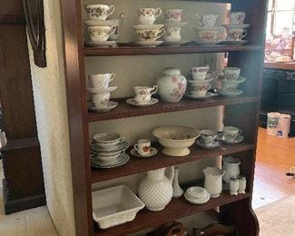 Nice large open bookcase/ floor display shelf