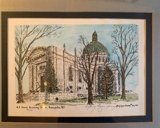 U. S. Naval Academy Chapel Ltd. Edition lithograph