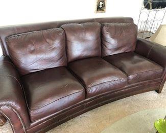 leather sofa. Very Nice