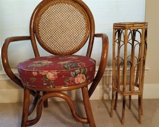 bentwood chair and side table