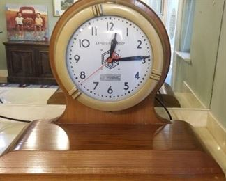 "Crouse-Hinds Co. Clock for Hazardous Locations, clock face measures 16 inches in diameter, whole clock is 25 inches tall on a base that is 32"" wide, it works!"