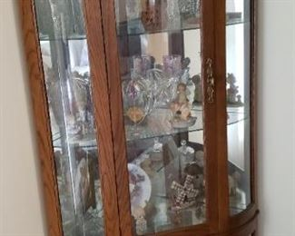 Corner curio/display cabinet