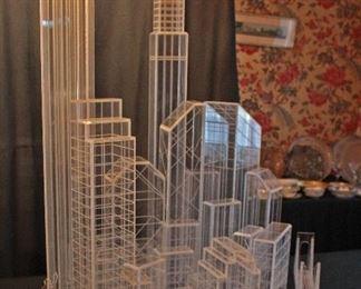 One of a Kind Lucite Manhattan Skyline
