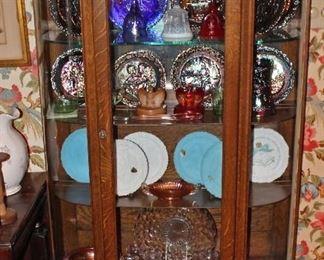 Oak Curve Glass China Cabinet