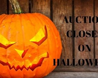 Auction Closes On HALLOWEEN