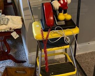 Mickey Phone... Cosco step stool